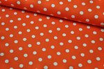 Baumwolle Big Dots by Poppy orange