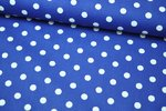 Baumwolle Big Dots by Poppy royalblau