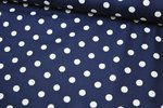 Baumwolle Big Dots by Poppy navy 002
