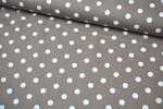 Baumwolle Big Dots by Poppy Taupe 019