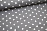 Baumwolle Big Dots by Poppy grau 013