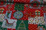 Baumwolle Christmas Collection Paisley/Sterne