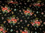 Jersey Fields of Flowers Glitter schwarz