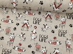 Canvas Animal Hearts Dogs life